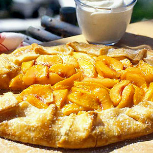 Lazy Peach Pie