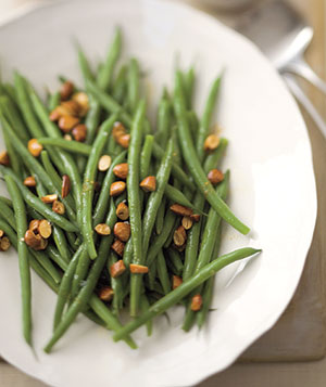 Lemon-almond Green Beans