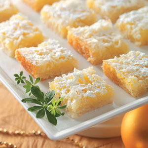 Lemon Coconut Squares - Recipegreat.com