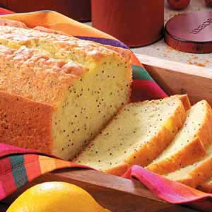 Lemon Poppy Seed Loaf With Lemon Syrup