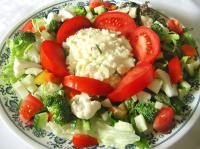 "Lettuce Salad With Egg Salad "" Dressing"""