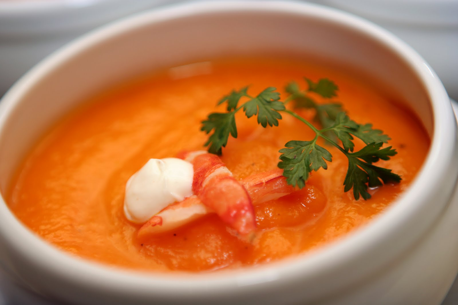 Lobster Bisque With Garlic Croutons - Recipegreat.com