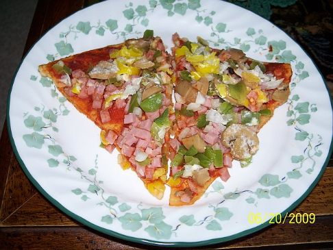 Low Calorie Low Fat Thin Pizza Crust