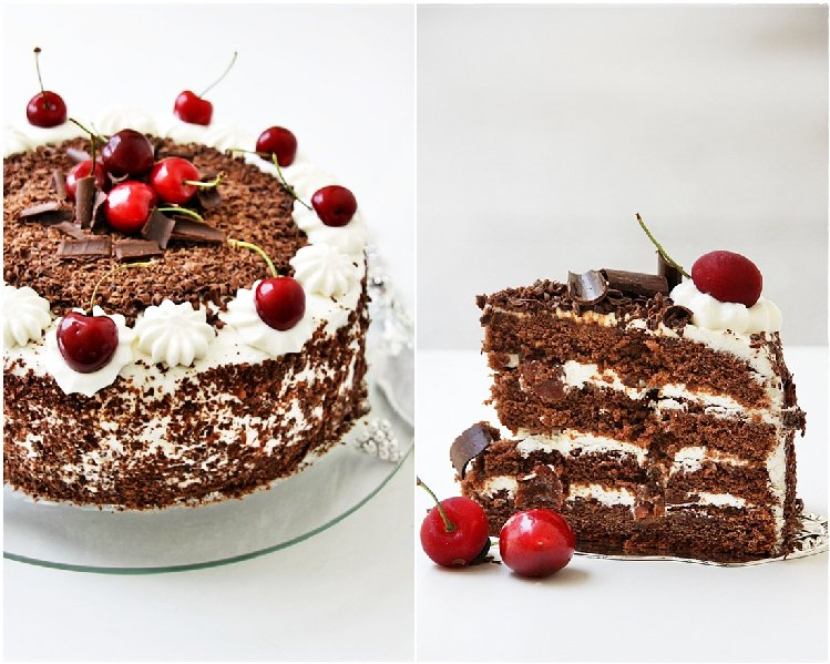 Low Fat Black Forest-Like Cake