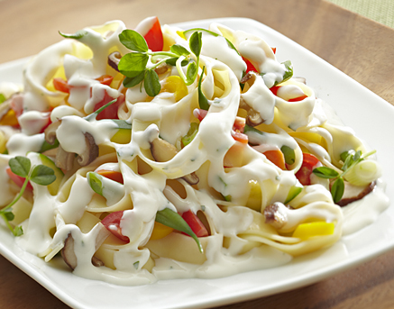 Low fat Creamy Pasta Primavera
