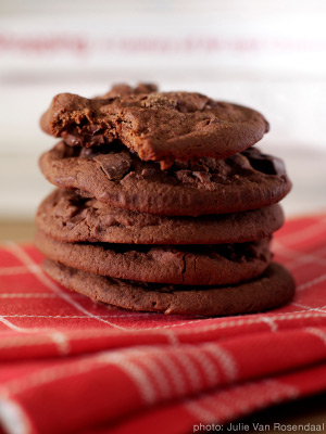 Low-Fat Double Chocolate Chip Cookies