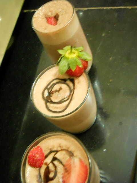 Low Fat Strawberry Smoothie