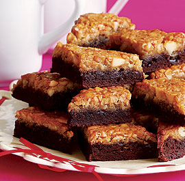Macadamia Double-Decker Brownie Bars