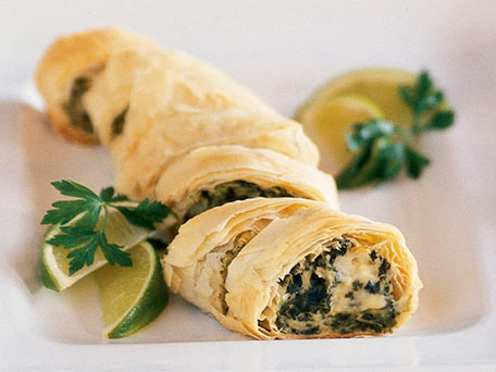 Make-Ahead PHILLY Spinach Phyllo Roll-Ups