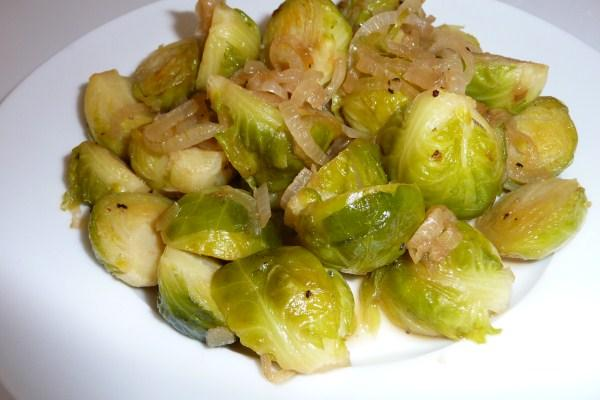 Maple Brussels Sprouts With Onions