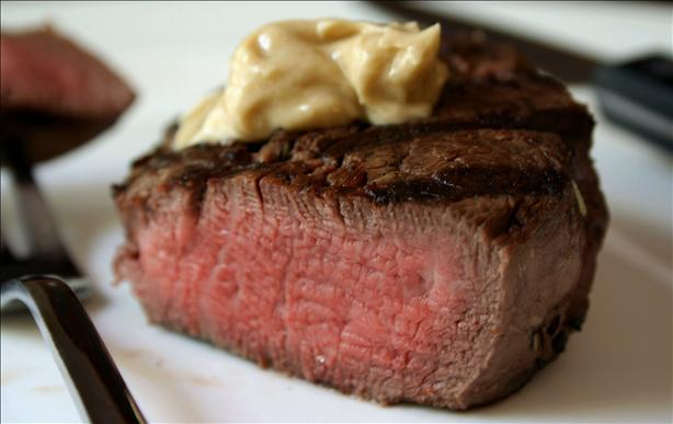 Marinated Filet Mignon With Flavored Butter