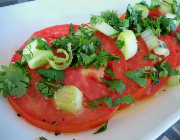 Marinated Tomato Slices (Marinierte Tomaten)