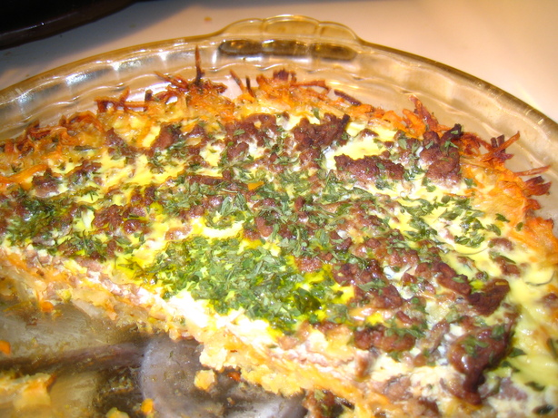 Meat and Potatoes Quiche (A.k.a. the Man