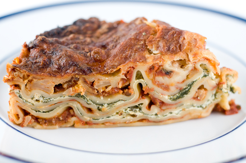 Meatless (But Very Cheesy) No Boil Lasagna