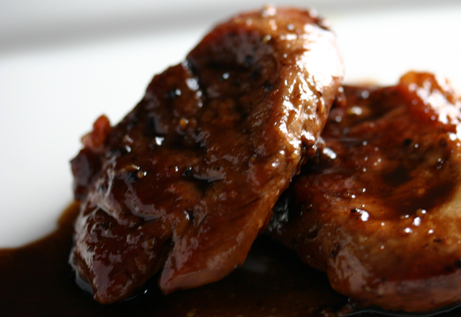 Medallions of Pork With Maple Balsamic Sauce