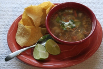 Mexican Shrimp and Octopus Soup - Caldo De Camaron Y Pulpo