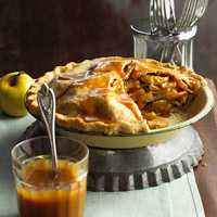 Mile-High Caramel Apple Pie