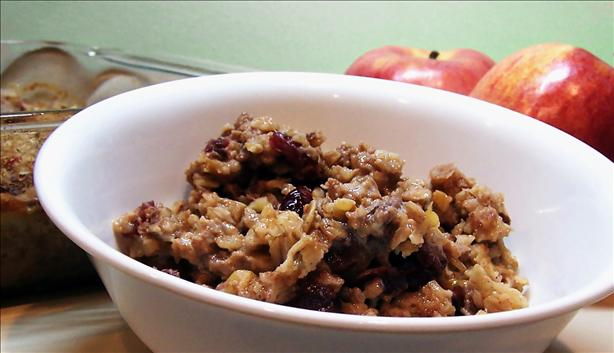 Modified Baked Cranberry Oatmeal