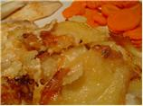 Molten French Camembert Potato Gratin With Bacon and Onions