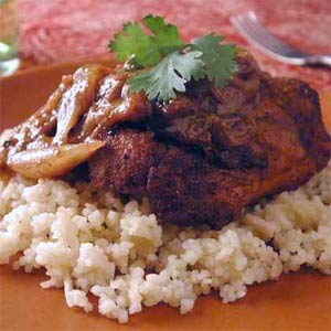Moroccan Chicken With Golden Rice