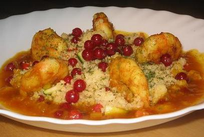 Moroccan Prawns With Couscous