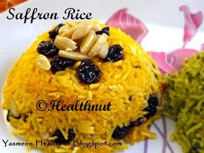 Moroccan Rice Pilaf With Saffron