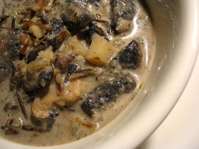 Mushroom Brown Rice Soup