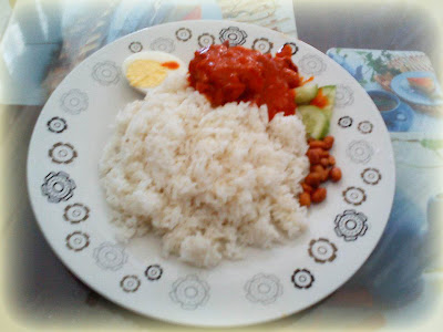Nasi Lemak With Sambal Chicken Modified