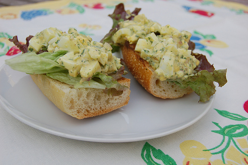 Not Your Grandma's Egg Salad (Curried Egg Salad With Shrimp)