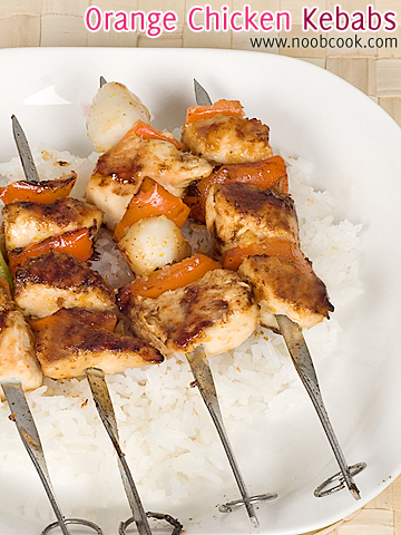Orange Chicken Skewers