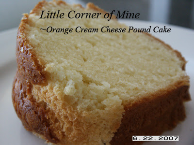 Orange Cream Cheese Pound Cake