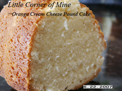 Orange Cream Cheese Pound Cake - Recipegreat.com