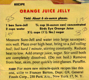 Orange Juice Jelly