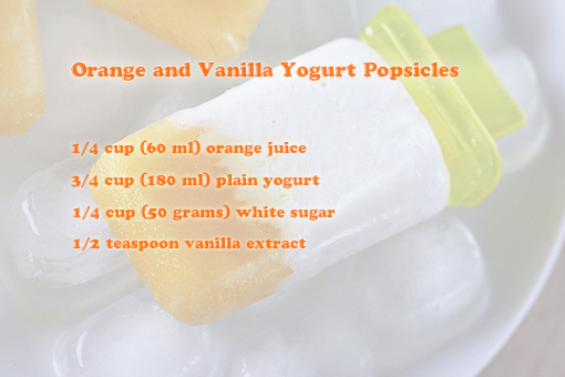 Orange Yogurt Popsicles