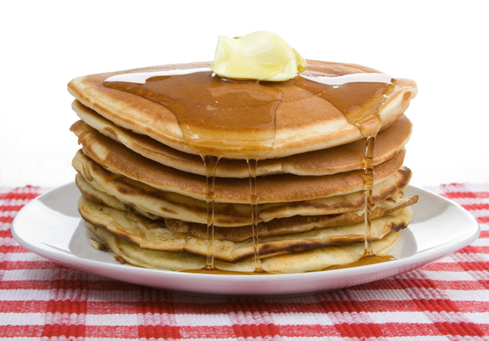 Pancake Stack with Syrup