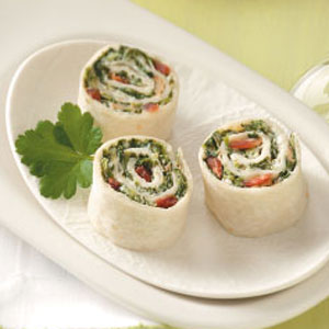 Parmesan Spinach Roll-ups
