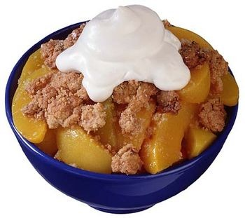 Peach Crisp any fresh fruit can be substituted