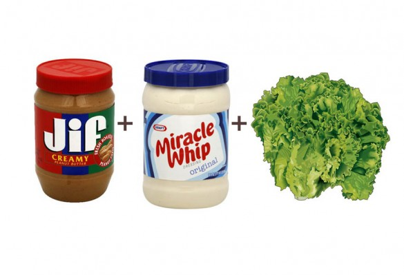 Peanut Butter and Miracle Whip Sandwich