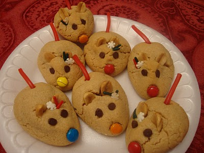 Peanut Butter Christmas Mice Recipegreat Com