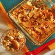 Pear and Cranberry Panettone Pudding