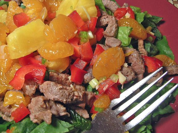 Pineapple, Beef and Mandarin Salad