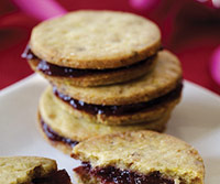 Pistachio-Cherry Sandwich Cookies