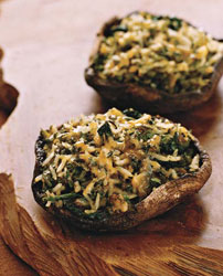 Poblano and Cheddar Stuffed Portobello Mushrooms