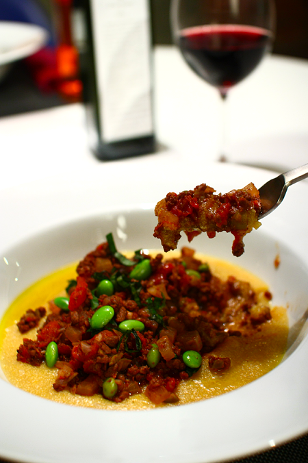 Polenta with Ground Beef Ragout