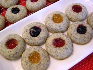 Poppy Seed Thumbprint Cookies