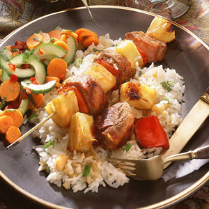 Pork and Pineapple Kebabs (Cooking Light)