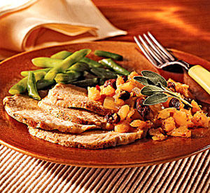 Pork Roast with Pineapple Chutney