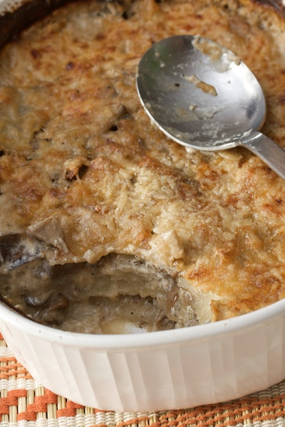 Potato and Shiitake Mushroom Gratin