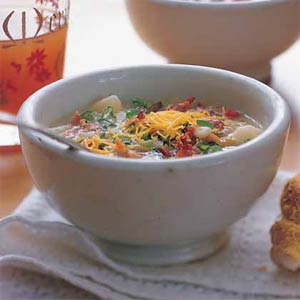 Potato, Cheese and Bacon Soup