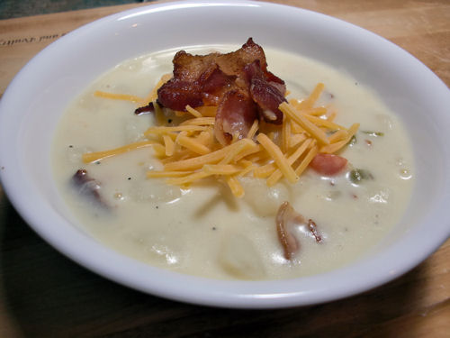 potato bacon cheese soup